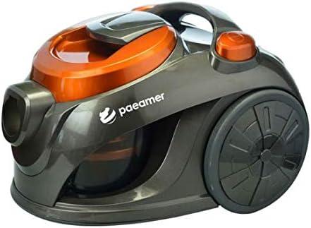 Aspirador sin Bolsa PAEAMER ASK1616 Velocidad Regulable 700W 2 litros 85dB Clase A Gris/Naranja: Amazon.es: Hogar