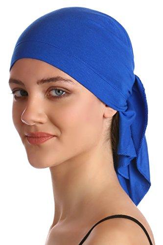 Pañuelo de algodón y bambú para quimioterapia (Azul real): Amazon.es: Ropa y accesorios