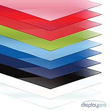 Colour Perspex Acrylic Sheet Plastic Material Panel Cut to Size A5 ...