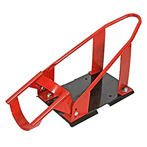 Million Parts Motorcycle Wheel Chock Nest Cradle Removable Adjustable Bike Stand Lift Mount Trailer Truck (Red)