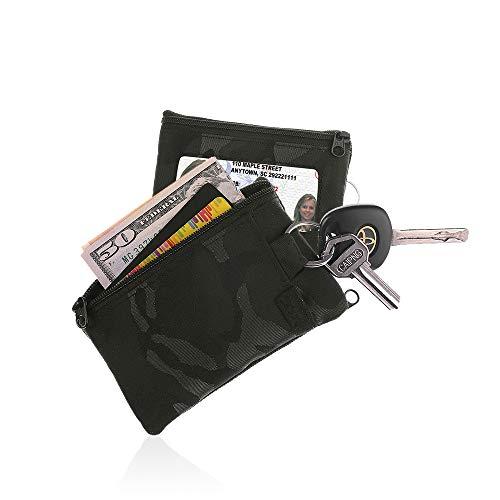 (IKEPOD Lightweight Sports Surfshort Wallet - ID window, keychain, RFID Holder)