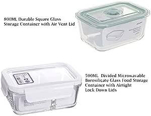 Amazon.com: MINISO Divided 500ml Microwavable Borosilicate