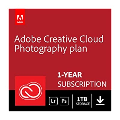 Adobe Creative Cloud Photography plan with 1TB Student and Teacher   1 Year Subscription (Mac Download)