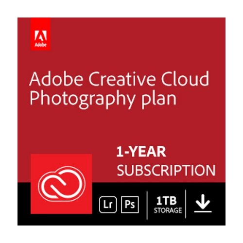 Software : Adobe Creative Cloud Photography plan with 1TB | 1 Year Subscription (Mac Download)