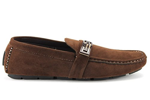 Moccasin Cofffee 12 Mens Casual Loafers Shoes Suedette Slip On M1040 Driving g6qw1C