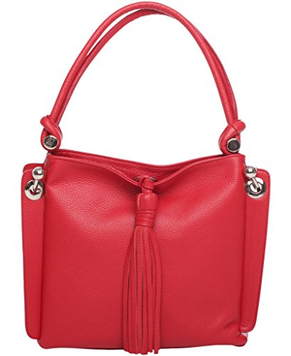 Josephine Osthoff Handtaschen-Manufaktur, Borsa a tracolla donna Rosso rosso one size