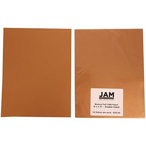 8 1/2 x 11 - 24 lb 2-sided Bronze Foil Paper - 50 sheets per pack