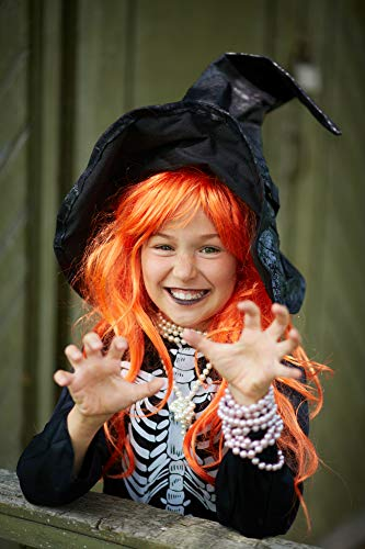Missamé Orange Color Wig for Dress Up, Cosplay, Kids Adult Halloween Costumes]()