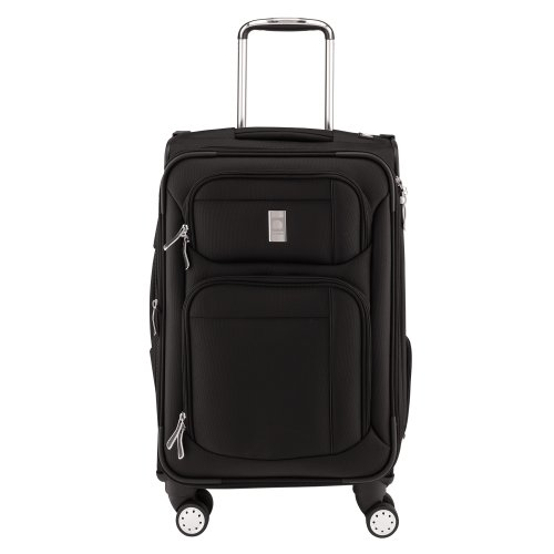 Delsey Luggage Helium Breeze 4.0 21 Inch Exp. Spinner Suiter Trolley, Black, One - Garment Nylon Bag Delsey