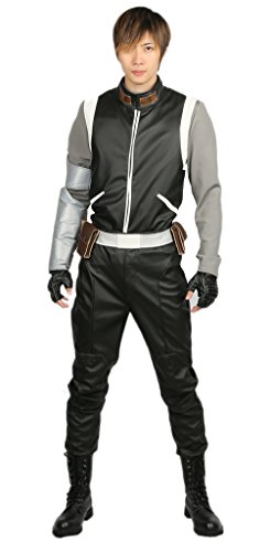 Voltron Costume For Sale (Voltron Shiro Costume Deluxe PU Adult Jacket Belt Cosplay Costume Accessory M)