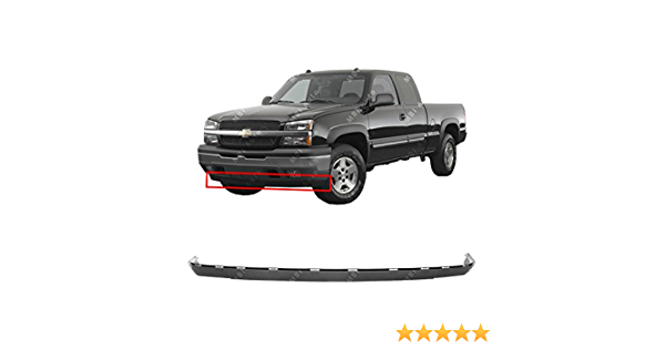 Black Front Lower Bumper Air Deflector for 2003-2006 Chevy Silverado /& Avalanche 03-06 GM1092204 BUMPERS THAT DELIVER Textured