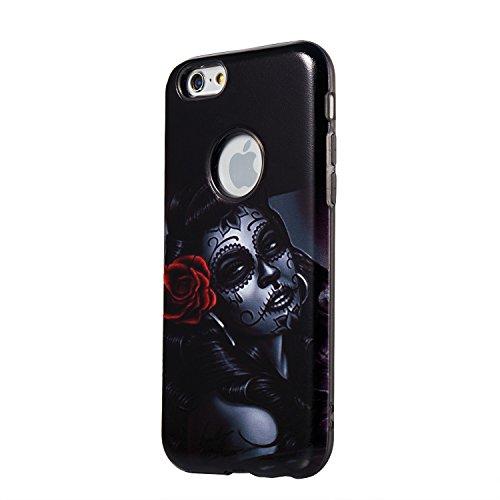"""Hülle iPhone 6 Plus / 6s Plus , LH Gelockt Mädchen Combo TPU Weich Muschel Tasche Schutzhülle Silikon Handyhülle Schale Cover Case Gehäuse für Apple iPhone 6 Plus / 6s Plus 5.5"""""""