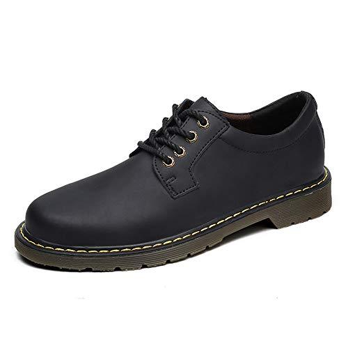 Xujw-shoes, 2018 Scarpe Stringate Basse Abiti da lavoro in pelle casual da uomo Oxford Abiti formali con fondo arrotondato e spesso (Color : Dark Gray, Dimensione : 43 EU) Dark Gray
