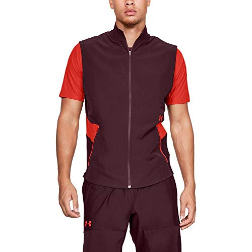 (Under Armour Men's Threadborne Vanish Vest, Dark Maroon (600)/Radio Red, Medium)