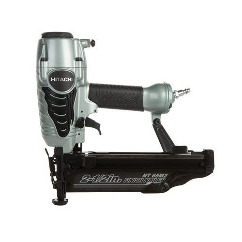 Hitachi NT65M2S 16-Gauge 2-1/2 in. Oil-Free Straight Finish Nailer Kit (Certified Refurbished) by Hitachi
