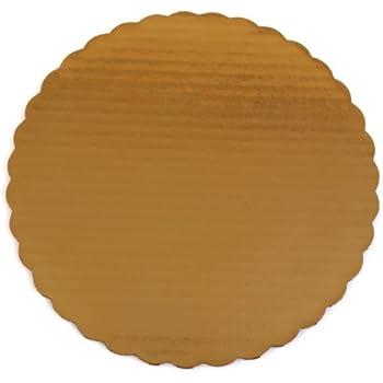 "Southern Champion Tray 1615 10"" Sturdy Corrugated Single Wall Cake Circle, Greaseproof,  Gold Metallic (Case of 200)"