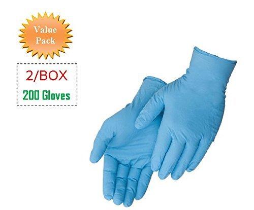Liberty Glove - Duraskin- T2010W Nitrile Industrial Glove, Powder Free, Disposable, 4 mil Thickness, Medium, Blue 200