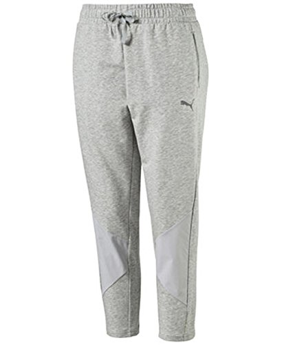 PUMA Transition Relaxed Cropped Track Pants, Heater Grey, Small