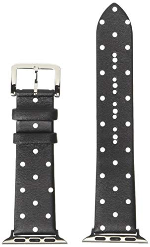 kate spade new york 38mm Apple Watch Band, Black and White Dot Leather, KSS002
