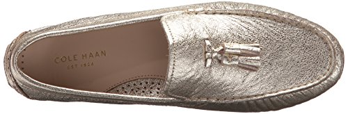 Cole Haan Womens Rodeo Nappa Driver Fannullone Platino Glitter
