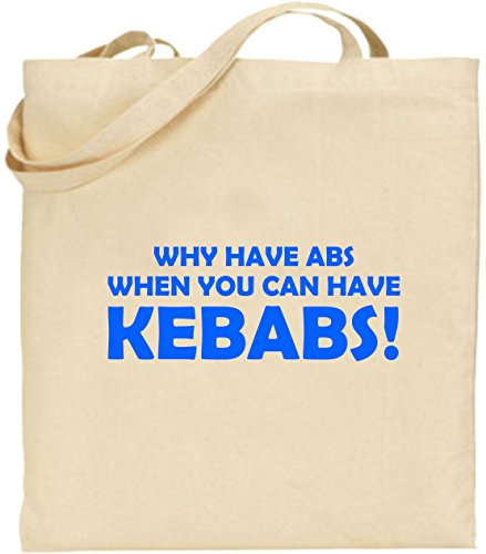 Gift Bag Have Large Shopping Blue Abs Tote Birthday Why Cotton Xmas Day Kebabs Joke A1zZFw