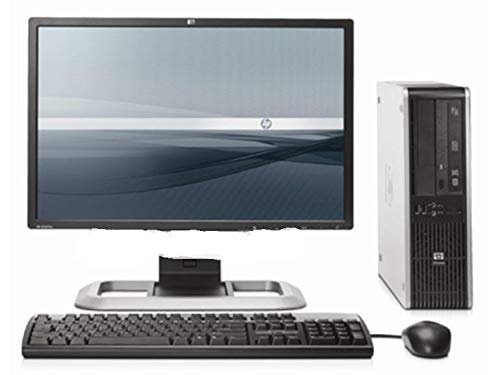 HP Elite Small Form Desktop Computer Tower PC (Intel Core 2 Duo, 8GB Ram, 500GB HDD, WiFi, DVD-RW, Keyboard Mouse) 17″ LCD Monitor Brands Vary Windows 10 (Certified Refurbished)