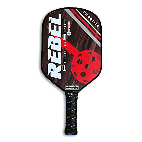 ProLite Rebel PowerSpin Pickleball Paddle - Dean Red / Cash Black by Pro-Lite
