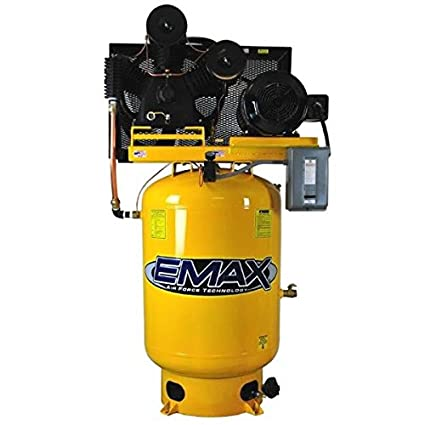 Amazon.com: 10 HP Air Compressor, 120-Gallon, Vertical, 2-Stage, 1 PH, Industrial Plus Series, Model EP10V120Y1 by EMAX Compressor: Home Improvement