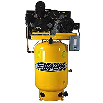 Amazon.com: 10 HP Air Compressor, 120-Gallon, Vertical, 2-Stage, 3PH, Industrial Plus Series, Model EP10V120Y3 by EMAX Compressor: Home Improvement