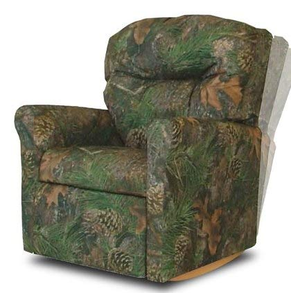 Kids Small Recliner Chair Rocker Glider Nursery-Camouflage Fabric Relaxing Comfort Your Little Ones