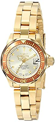Invicta Women's 12527 Pro-Diver 18k Gold Ion-Plated Stainless Steel and Champagne Dial Bracelet Watch by Invicta