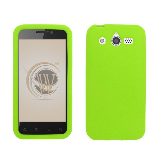 Silicone M886 (Neon Green Silicone Skin Soft Phone Cover for Huawei Mercury M886)