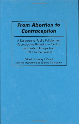 From Abortion to Contraception: A Resource to Public Policies and Reproductive Behavior in Central and Eastern Europe from 1917 to the Present
