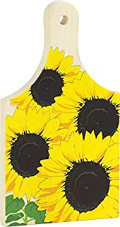 "product image for 9"" Cutting Board, Sunflower - Made in USA"