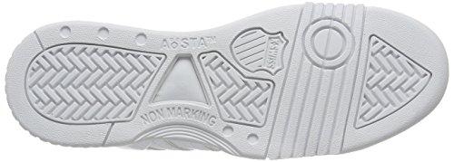 K-swiss Mens Gstaad Logo Grande Bianco / Pelle Nera