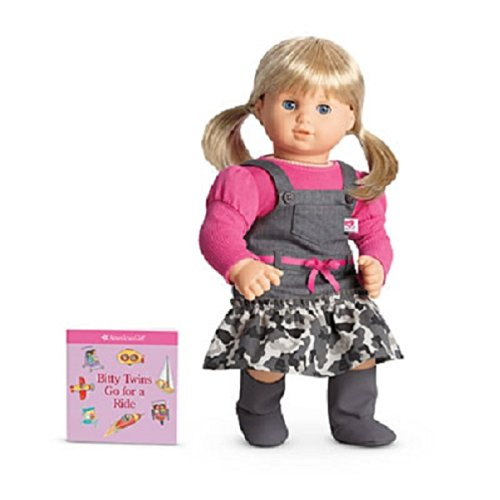 American Girl Bitty Baby Twin Camo Jumper Outfit for Dolls + Book NIB AUTHENTIC (Girl Doll American Jumper)
