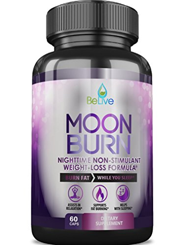 MoonBurn Fat Burner Weight Loss Pills for Women and Men. Sleep Aid Supplement, Stimulant-Free, Carb Blocker with Garcinia Cambogia, Green Tea & CLA