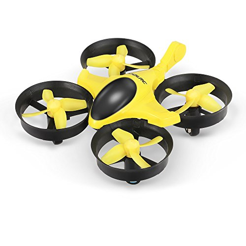 41t%2BHQl7ZBL GoolRC T36 Mini RC Quadcopter Drone 2.4G 4 Channel 6 Axis With 3D Flip Headless Mode One Key Return Nano Copters RTF Mode 2 With Bonus Battery(Yellow)