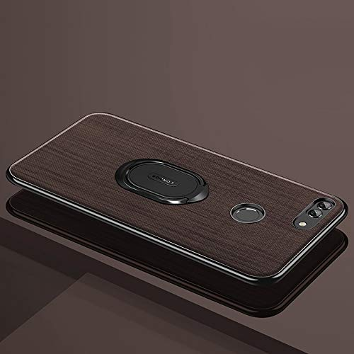 ZITEZHAI-Fashion case with Alloy Holder, Shockproof PC + TPU Case for Huawei nova 2 (Color : Brown)]()