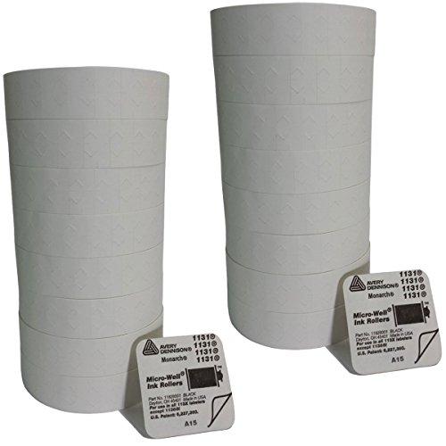 - Monarch Paxar 1131 Label Gun White Labels - 16 Rolls