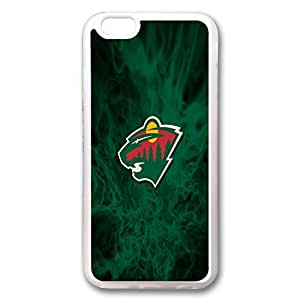 custom and diy for iphone 6 NHL Minnesota Wild logo green flames background by jamescurryshop by ruishername