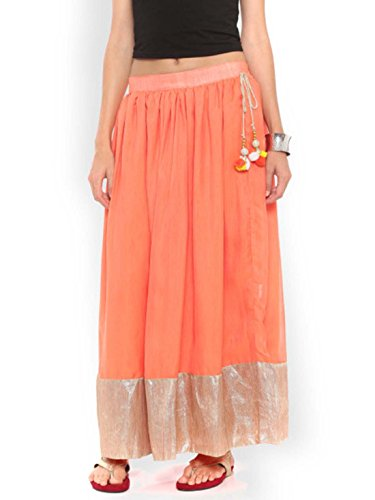 Maxi Skirt Flared Orange Moza De gnxS44