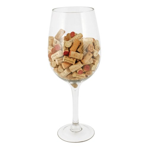 (True Fabrications Big Bordeaux Wine Glass/Cork)