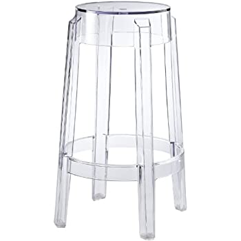 Amazon Com Claris Adjustable Acrylic Bar Stools Set Of 2