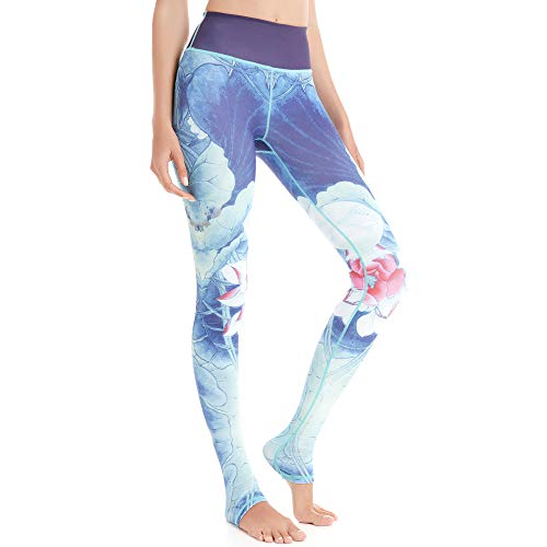 b98e35ff21 SEEU Womens Printed Sports Compression Tights, Quick Dry Workout Leggings  for Running Yoga Pilates