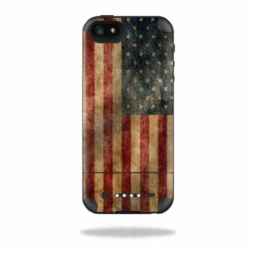 MightySkins Protective Vinyl Skin Decal Cover for Mophie Juice Pack Air iPhone SE/5s/5 Apple iPhone SE/5s/5 Battery Case wrap sticker skins Vintage Flag -  MJAIRIP5-Vintage Flag