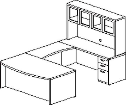 Mayline Mira Typical 10 Computer Desk in Espresso -