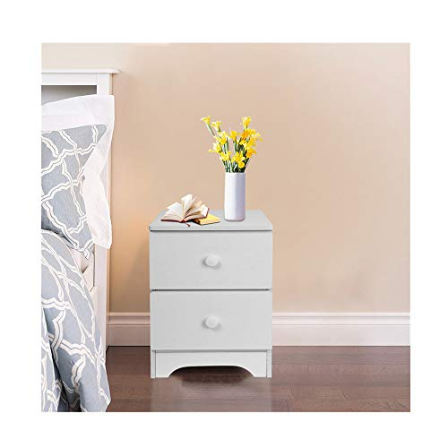 Kimanli Assemble Storage Cabinet Bedroom Bedside Locker Double Drawer Nightstand Space-Saving Wardrobe Storage Cabinet Chests Organizer Portable