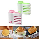 JDgoods 2 Pcs Bread Cake Slicer Cutting Guide - Perfect Cake Bread Splitter, Suitable for Kitchen Family Baking Tool