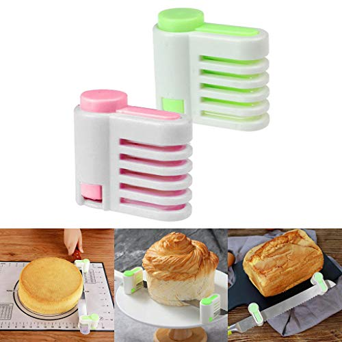 2019 Fashion!!! Cathy Clara 2 Pcs Even Cake Slicing Leveler Bread Cutter Durable Baking Kitchen Tools